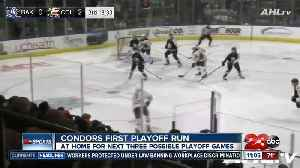 Condors back home before first AHL Playoffs home game [Video]
