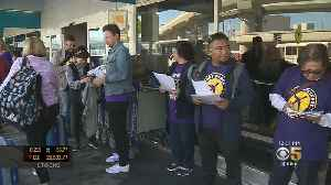 Bay Area Airport Workers Stage Demonstration Against Southwest Policies [Video]