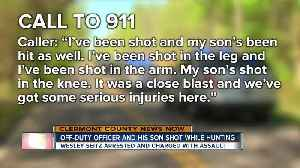 Off-duty officer and son shot while hunting [Video]