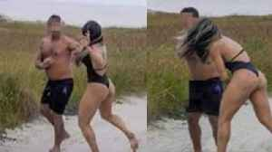 Female MMA Fighter DESTROYS Creep Who Was Beating His Meat In Public During Her Photoshoot! [Video]