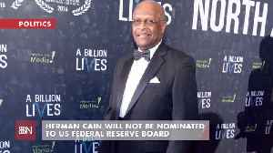 Herman Cain Is Out At Federal Reserve Board [Video]