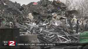 Recycled materials turn to art with Earth Day donation in Utica [Video]