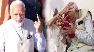 PM Modi receives blessings from his mother, Cast Vote from Gandhinagar | Oneindia News [Video]