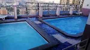 Swimming pools on tower block shake as earthquake hits the Philippines [Video]
