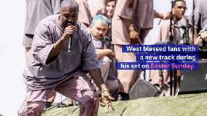 Kanye Unleashes New Music At Coachella [Video]
