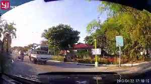 Dashcam footage shows vehicles shaking as earthquake hits the Philippines [Video]
