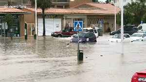 UK tourist spots cars wading through deep water as Spanish town flooded [Video]