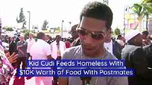 Kid Cudi Feeds Homeless With $10K Worth of Food With Postmates [Video]