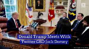 Donald Trump Meets With Twitter CEO Jack Dorsey [Video]