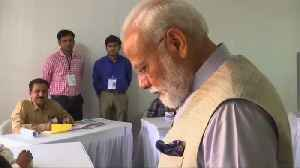 Indian PM Modi votes in third phase of mammoth general election [Video]