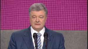 Ukraine's President Delivers Concession Speech After Comedian Wins Election [Video]