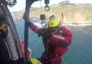Emergency Services Rescue Hypothermic Woman From Sea After Kayak Capsized [Video]