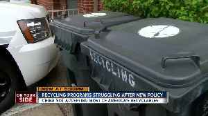 Recycling programs struggle after new policy [Video]