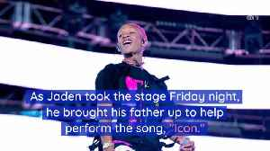 Jaden Brought His Dad To Coachella [Video]