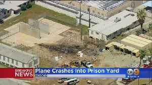 Plane Crashes In Norco Prison Yard, Sparks Fire [Video]