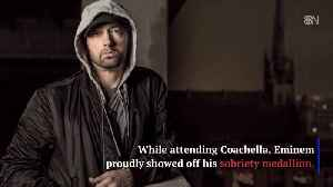 Eminem Shows His Dedication To Staying Sober [Video]
