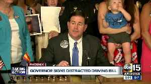 Arizona joins 47 other states with cellphone driving law [Video]