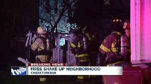 Several homes, garages lost in Cheektowaga fire [Video]