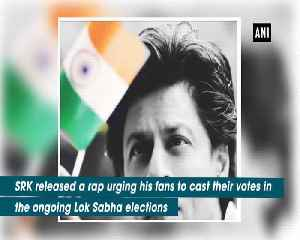 Shah Rukh Khan turns rapper urges fans to vote [Video]
