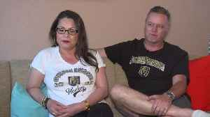 Devoted Golden Knights couple on way to San Jose for Game 7 [Video]