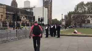 Police Surround Parliament Square Ahead Of Extinction Rebellion Protest [Video]
