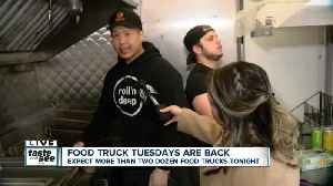 Food trucks travel from Rochester for Larkin Square's food truck tuesday [Video]