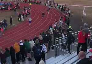 Crowd Cheers as Coaches Race Each Other at High School Track Meet [Video]