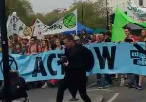 Extinction Rebellion Demonstrators March to Parliament from Marble Arch [Video]