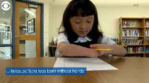 WEB EXTRA: Girl With No Hands Wins Handwriting Contest [Video]