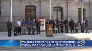 Philadelphia Reopens 'Solarize Philly' Registration [Video]
