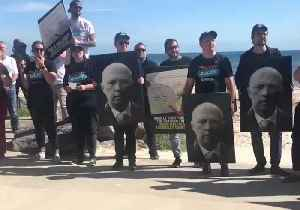 Protesters Greet Morrison at Seacliff Campaign Stop [Video]