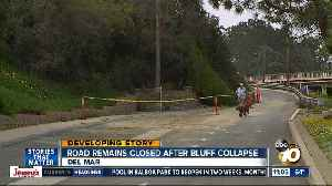 Road closed after Del Mar bluff collapse [Video]