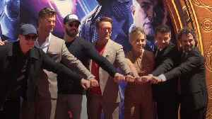 Avengers immortalised in cement at Hollywood's Chinese Theatre [Video]