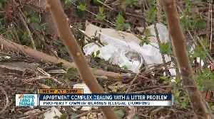 Apartment complex deals with litter problem [Video]