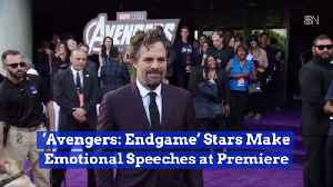 News video: Marvel Heroes Are Weepy At The 'Avengers: Endgame' Premiere