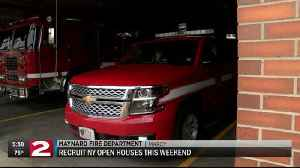 Local fire departments looking for volunteers, holding open houses this weekend [Video]