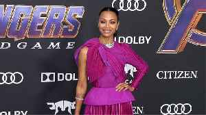 Zoe Saldana 'Avengers: Endgame' World Premiere Purple Carpet [Video]