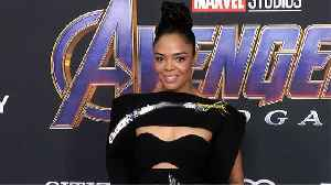 Tessa Thompson 'Avengers: Endgame' World Premiere Purple Carpet [Video]