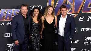 Matt Damon, Luke Hemsworth 'Avengers Endgame' World Premiere Purple Carpet [Video]