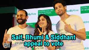 Saif Ali Khan, Bhumi Pednekar, Siddhant Chaturvedi appeal to vote [Video]