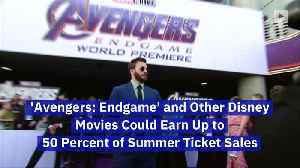 'Avengers: Endgame' and Other Disney Movies Could Earn Up to 50 Percent of Summer Ticket Sales [Video]