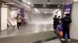 Wind and hail batters students in Zhejiang Province, China [Video]