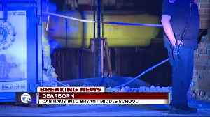Car rams into Bryant Middle School in Dearborn [Video]