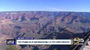 News video: 70-year-old woman falls to death at Grand Canyon
