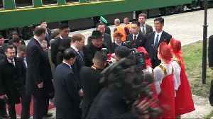 Kim Jong Un welcomed at Russia's border [Video]