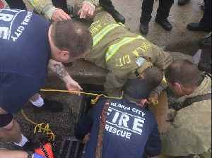 Firefighters Rescue Man From Storm Drain in Oklahoma City [Video]