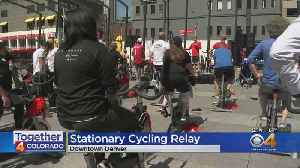 People To Get Moving During Cycling Relay [Video]