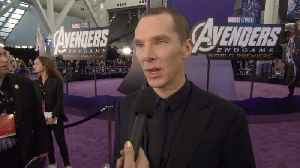 'Avengers: Endgame' Premiere: Benedict Cumberbatch [Video]