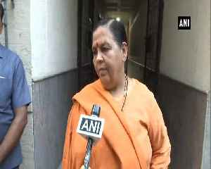 Poonam Sinha like my sister-in-law but Rajnath Singh will win in Lucknow Uma Bharti [Video]