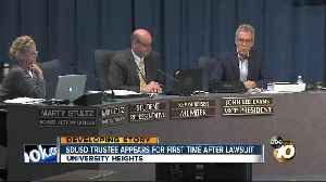 News video: SDUSD board member shows up at meeting amid sexual harassment allegations